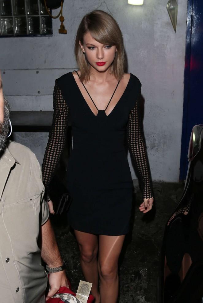 Taylor Swift - Leaving The Little Door Restaurant in LA