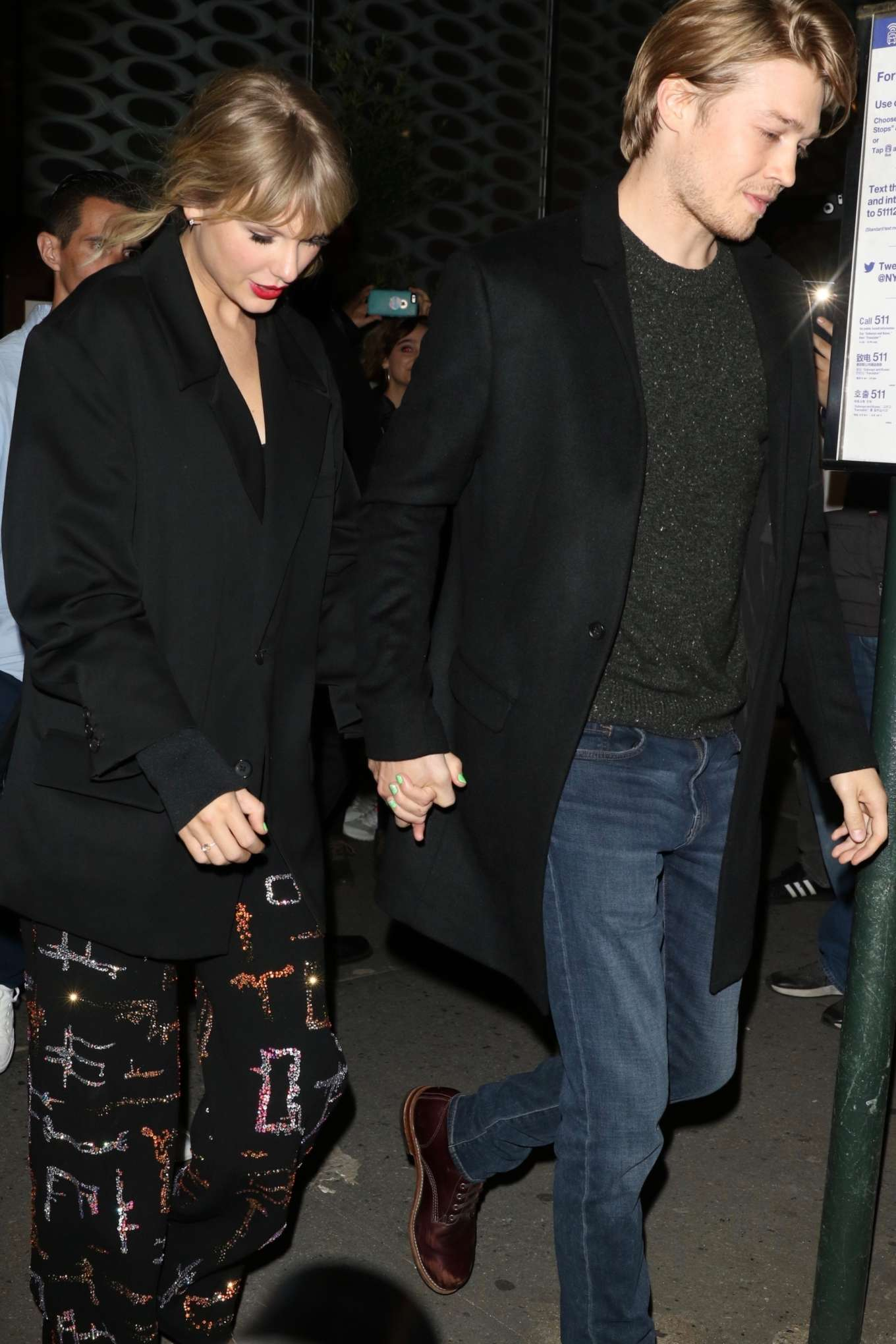 Taylor Swift - Leaving the SNF after-party with her boyfriend in New York City