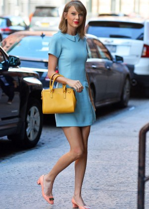 Taylor Swift in Blue Mini Dress -01