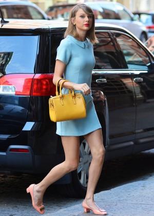 Taylor Swift in Blue Mini Dress -03