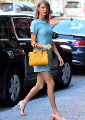 Taylor Swift in Blue Mini Dress -04