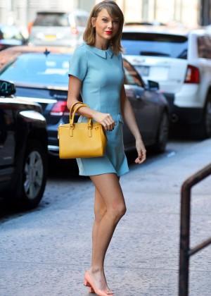 Taylor Swift in Blue Mini Dress -05