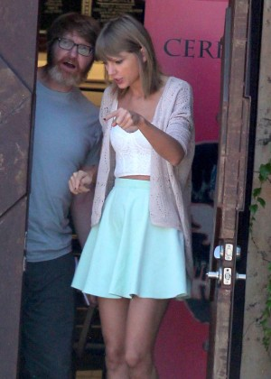 Taylor Swift in Short Skirt out in Studio City