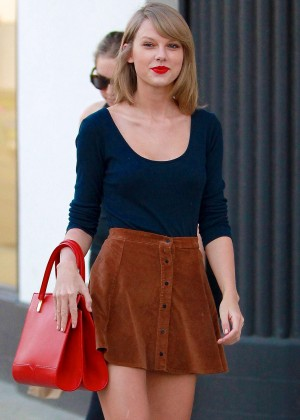 Taylor Swift in Short Skirt - out in West Hollywood