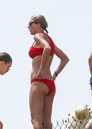Taylor Swift in Red Bikini in Rhode Island