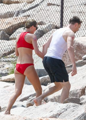 Taylor Swift in Red Bikini 2016 -37