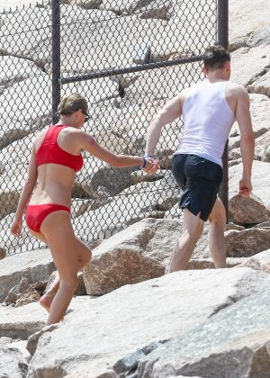 Taylor Swift in Red Bikini 2016 -45