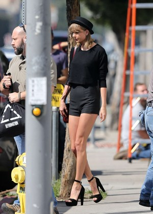 Taylor Swift in Short Shorts Shopping in West Hollywood