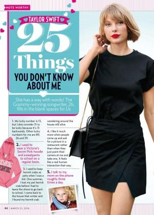 Taylor Swift - Us Weekly Magazine (March 2016)