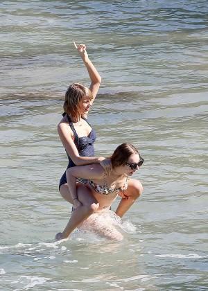 Taylor Swift in Blue Swimsuit -01