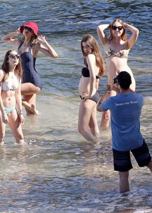 Taylor Swift in Blue Swimsuit -05