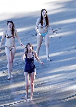 Taylor Swift in Blue Swimsuit -40