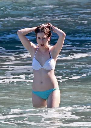 Taylor Swift in Blue Swimsuit -53