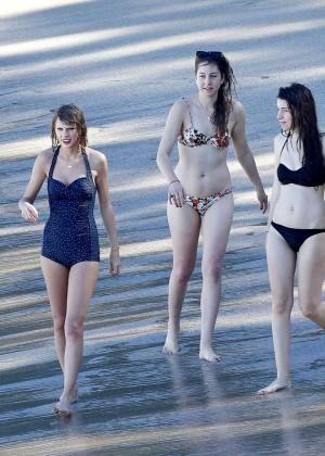 Taylor Swift in Blue Swimsuit -54