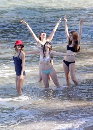 Taylor Swift in Blue Swimsuit -67