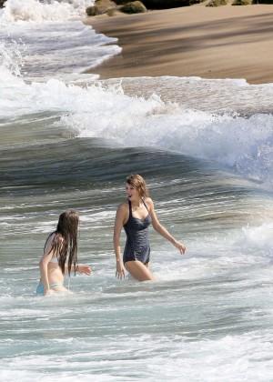 Taylor Swift in Blue Swimsuit -77