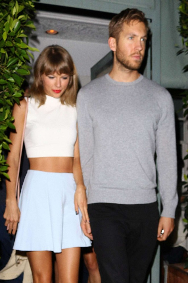 Taylor Swift with Boyfriend Leaves Giorgio Baldi Restaurant