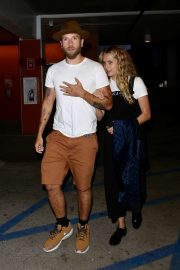 Teresa Palmer and her husband Mark Webber - On a movie date in Los Angeles