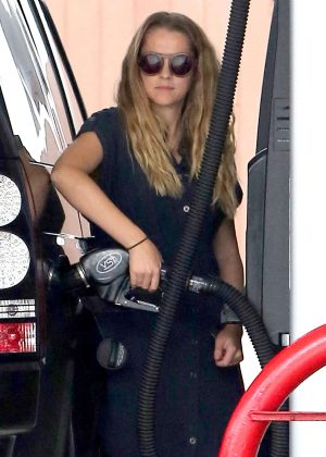 Teresa Palmer at Gas Station in Los Feliz