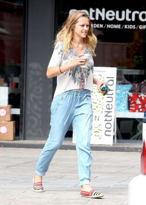 Teresa Palmer in Jeans out in Hollywood