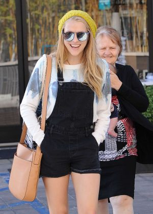 Teresa Palmer in Jeans Shorts out In Los Angeles