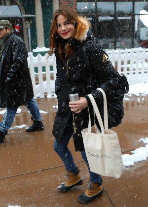 Teresa Palmer out at 2017 Sundance Film Festival in Utah