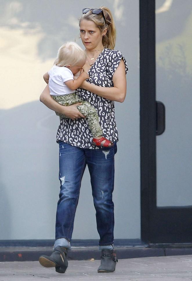 Teresa Palmer in jeans out in LA
