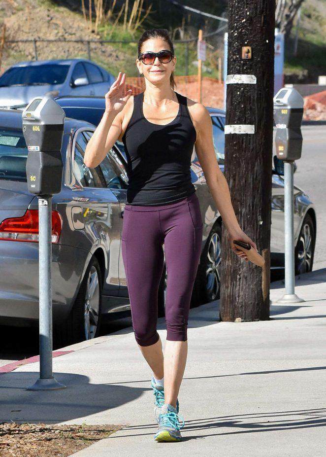 Teri Hatcher in Leggings out in Los Angeles