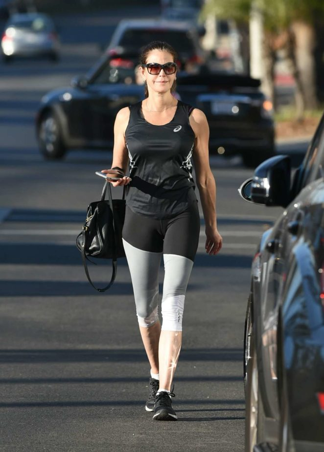 Teri Hatcher in Tight Leggings Out in Los Angeles