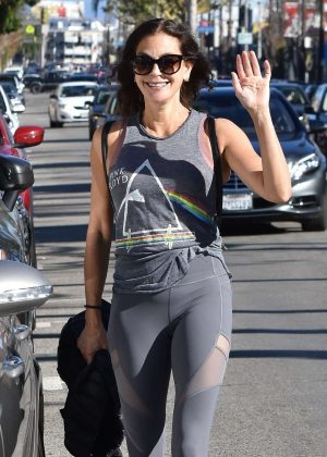 Teri Hatcher - Leaving a gym in Studio City