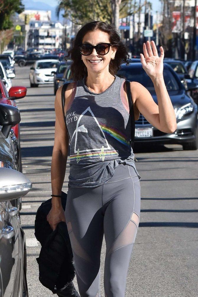 Teri Hatcher - Leaving a gym in Studio City