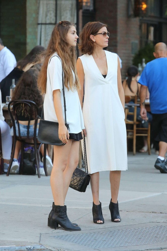 Teri Hatcher - Out with her daughter in Soho