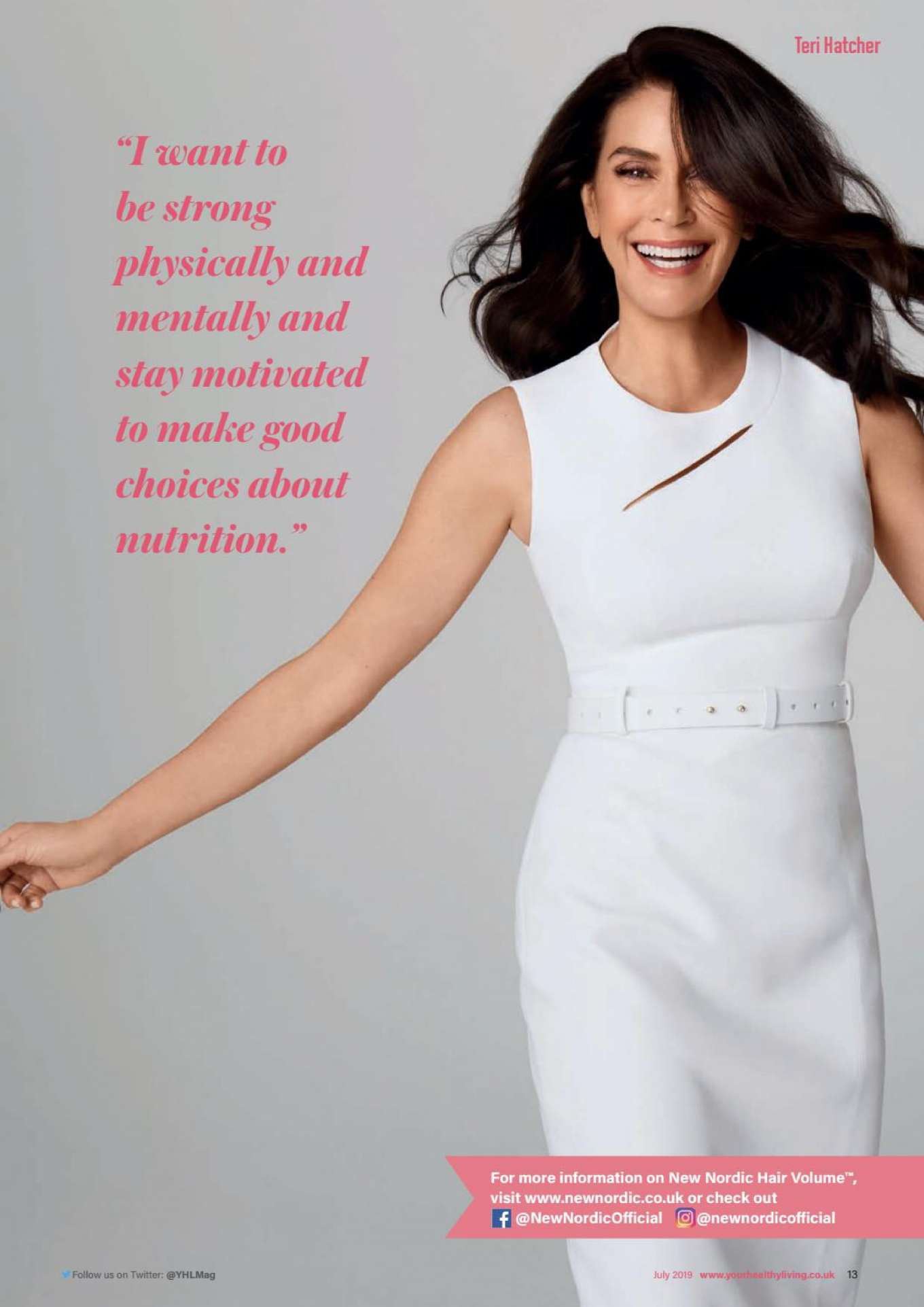 Teri Hatcher - Your Healthy Living Magazine (July 2019)