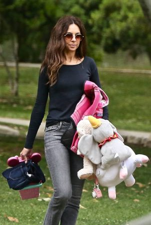 Terri Seymour with her daughter Coco at a park in Beverly Hills