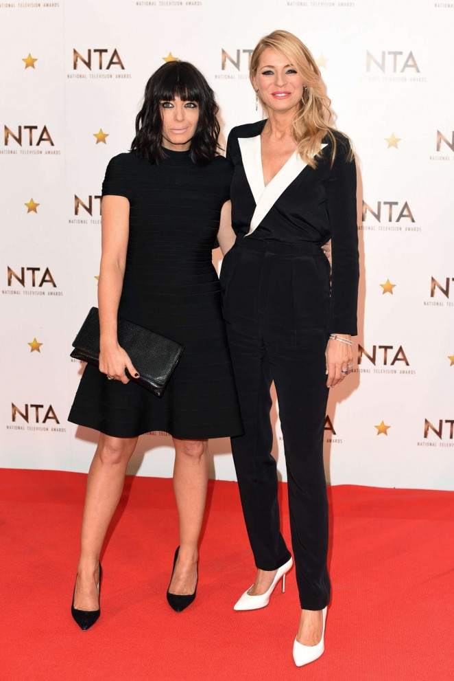Tess Daly & Claudia Winkleman - 2015 National Television Awards in London