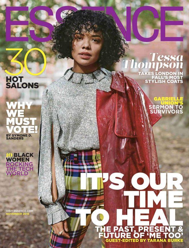 Tessa Thompson – Essence Magazine (November 2018)