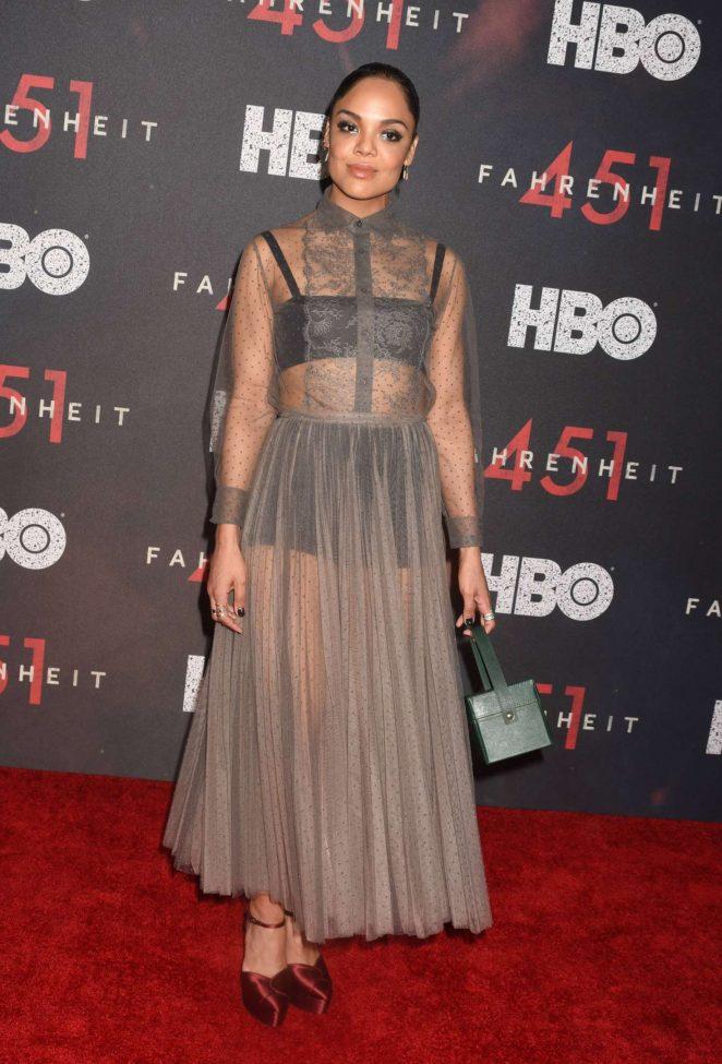 Tessa Thompson - 'Fahrenheit 451' Premiere in New York