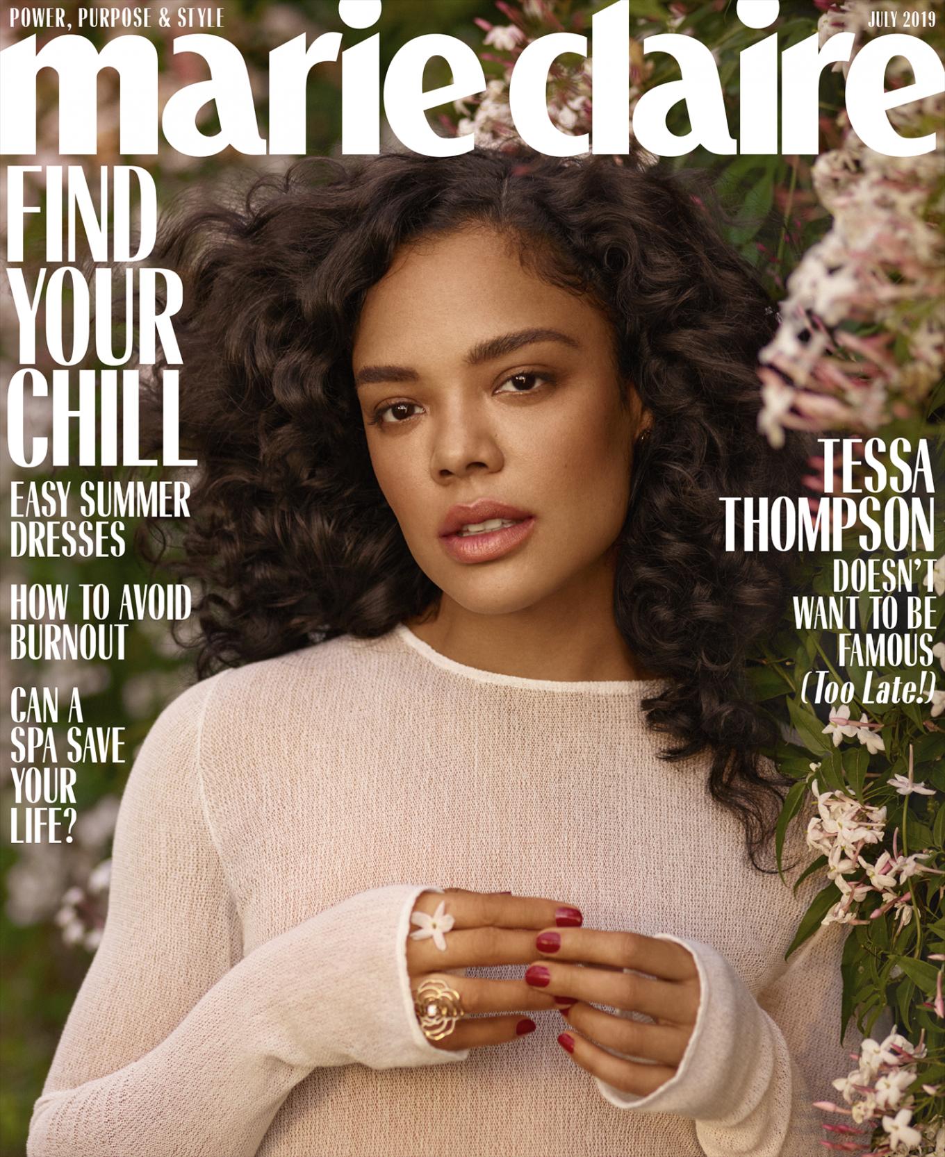 Tessa Thompson 2019 : Tessa Thompson: Marie Claire US 2019-04