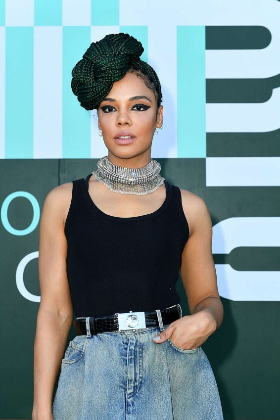 Tessa Thompson - Miu Miu Club Event at Hippodrome d'Auteuil in Paris