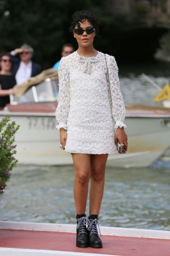 Tessa Thompson - Seen arriving at the 76th Venice Film Festival