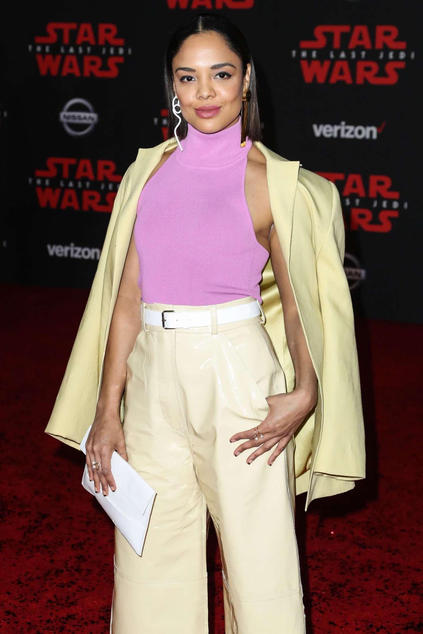 Tessa Thompson - 'Star Wars: The Last Jedi' Premiere in Los Angeles