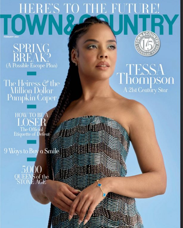 Tessa Thompson - Town and Country USA - February 2021