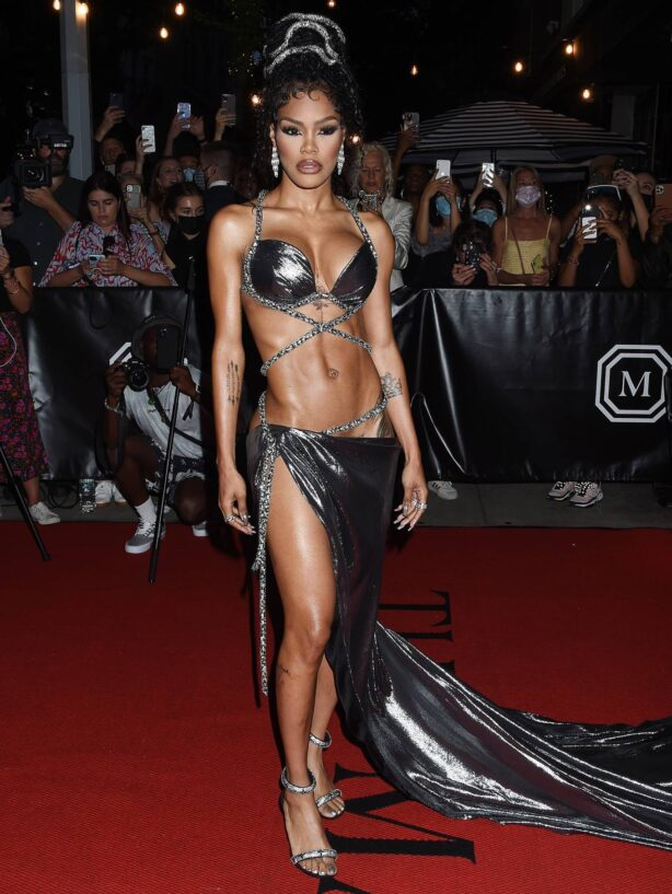 Teyana Taylor - departing The Mark Hotel in New York City for the 2021 Met Gala