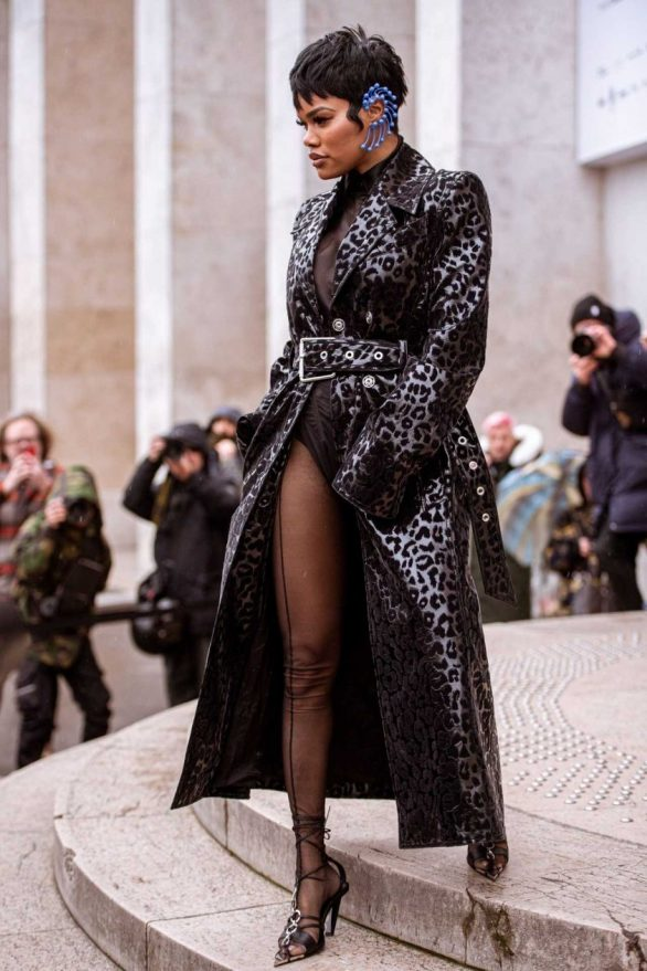 Teyana Taylor - Mugler show at Paris Fashion Week Womenswear Fall-Winter 2020-2021 in Paris