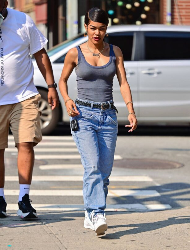 Teyana Taylor - on the set of A Thousand and One in in New York City