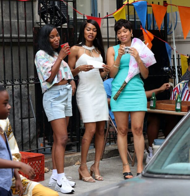 Teyana Taylor - With Will Catlett at the 'A Thousand and One' set in Harlem - Manhattan
