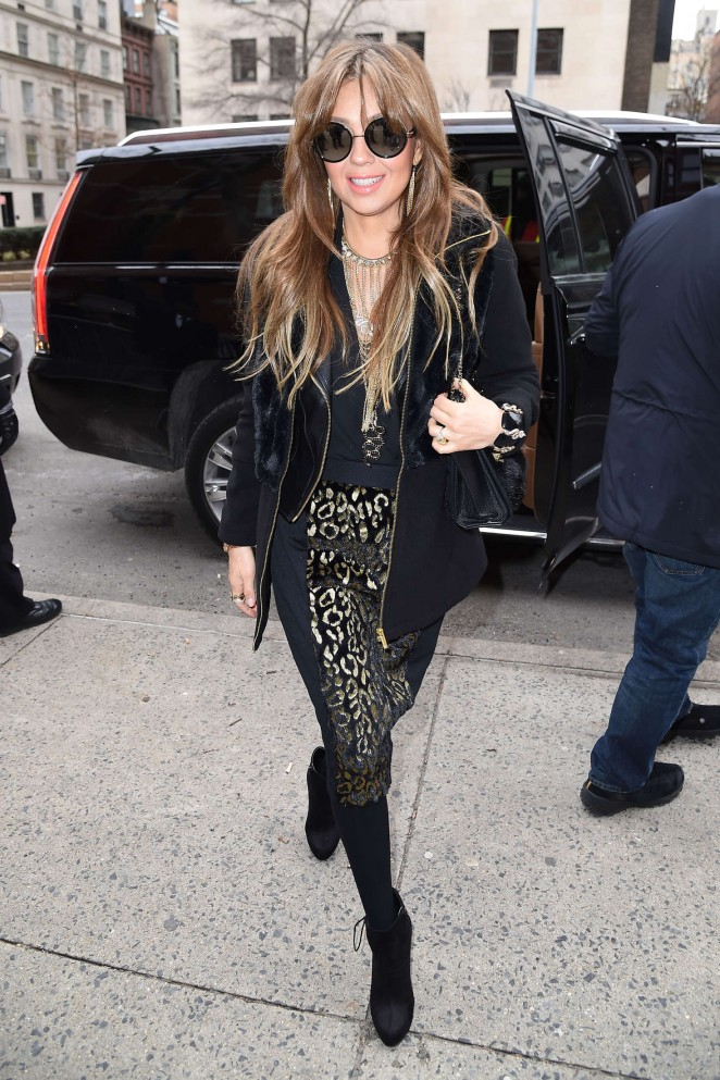 Thalia - Arriving at Tommy Hilfiger 2016 Fashion Show in NYC