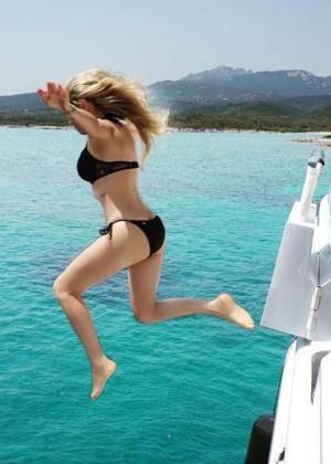 Thalia in Black Bikini - Instagram