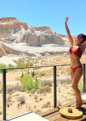 Thalia in Red Bikini - Instagram