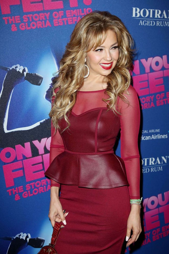 Thalia – Opening Night Arrivals for 'On Your Feet!' in NYC